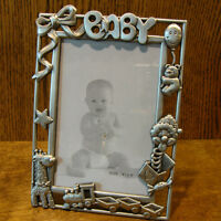 """Pewter Frame #GI4756L BABY, Retired 6"""" x 4"""" pic NEW/Box From Retail Store"""