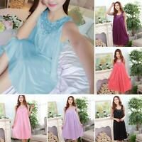 Chemise Sleepwear Nightgown Lace Robe Nightdress Satin Women Silk Lot Dress