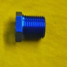 "1/4 NPT male 1/8 NPT female reducer blue 1/4"" to 1/8"""