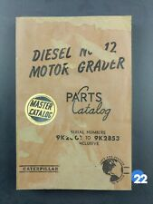 Caterpillar Diesel No. 12 Motor Grader Parts Catalog Manual SH1F