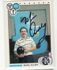 MIKE AULBY AUTOGRAPHED BOWLING CARD 1990 KINGPINS #66