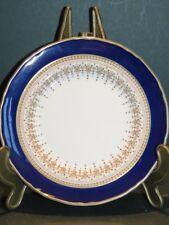 """Royal Worcester Fine Bone China Blue & Gold Regency side plate 6"""" 15cm"""