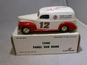 ERTL Diecast 1:25 1940 Panel Van Bank Bobby Allison Motorsports #GD-6014