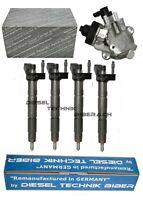 Injektor 0445116024 7805428 BMW + Hochdruckpumpe 0445010506 320d 520d BOSCH