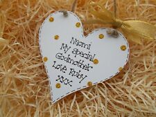 Personalised Special Godmother Heart Plaque Gift Keepsake