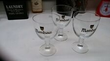 SET of THREE (3)  BELGIAN BEER GLASSES - THE CLASSIC CHALICES OF MAREDSOUS - .33
