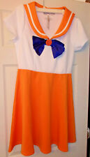 Sailor Moon Sailor Venus Cosplay Dress Womens' Large NEW with tag! Hot Topic