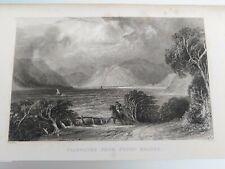 Ullswater From Pooly Bridge Antique Print, Thomas Allom. The Lake District