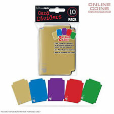 Ultra Pro MULTI COLOUR Trading Card Storage Dividers 10 Pack 5 Colours UP#84782