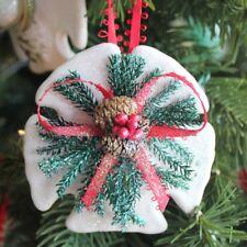 """Arrowhead Sand Dollar Pine Cone Ornament - 4-6"""" ~ Coastal Christmas Decor  New!"""