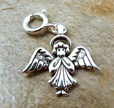 Sterling Silver Angel Charm fits European and Link Charm Bracelets - 1193