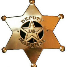 Deputy US Marshal Western Badge Solid Brass with Pin Back