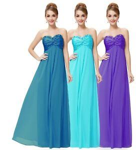 Sweetheart Strapless Chiffon Long Evening Party Dress