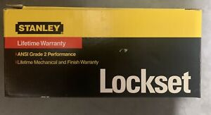 Stanley Lockset Keyed Entry Antique Nickel