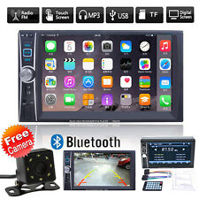 "6.6"" 2DIN Autoradio Bluetooth Car Stereo Radio MP5 Player USB/TF/AUX/FM + Kamera"