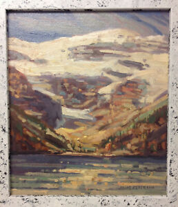 CANADIAN IMPRESSIONIST GROUP OF SEVEN ERA LAKE LOUISE ALBERTA OIL PAINTING NR L.