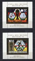 S5168) Guinea Ecuatorial 1974 MNH Wc Football-cm Football S/S x2 Gold