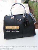 BNWT RRP$249 GUESS COOPER Handbag Satchel Shoulder Bag Black
