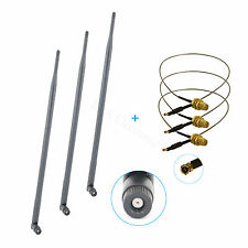 3 9dBi RP-SMA Dual Band WiFi Antennas + 3 12'' U.fl Mod Kit for Linksys EA6700