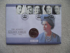 """2002 Royal Mint £5 Coin Cover PNC """"Golden Jubilee""""   (2)"""