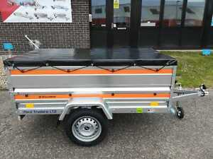 Single Axle Camping Trailer 6'7 x 3'6 with Solid Sides and Cover 750kg