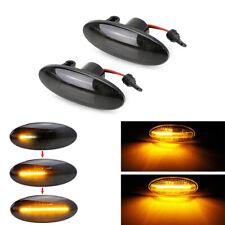 2x LED Side Indicator Repeater Turn Signal Lights For NISSAN Micra Juke Qashqai