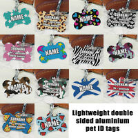 Custom pet dog tags personalised ID tags name address phone number contact