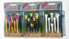 GOLF TEE RUBBER HEAD SERIES 18 Pcs PATRIOT Tees GolfPro 3 Packs EXTRA LONG 3 1/4