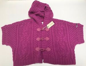 Diesel New Girls KALIPSO CABLE KNIT CROPPED SWEATER Sz 8 SM RTL $139 00J0BY P129