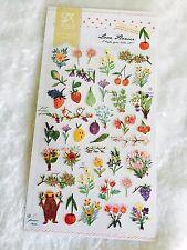 Vintage Flower Sticker Fruit Scrapbooking Cardmaking floral DIY Diary Art Phone