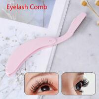 1Pcs Foldable Eyelash Comb Mascara Separator Lash Curl Metal Eyebrow Brush To jb