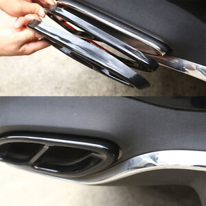 2PCS For Mercedes Benz A/B/C/E GLE GLS Class Black Exhaust Pipe Tip Cover Trim