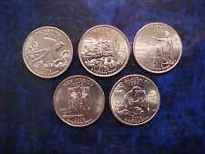 2008 -P STATE QUARTER SET OF 5 DIFFERENT STATE COINS UNCIRCULATED FREE SHIPPING