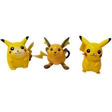 """Pokemon Pikachu Raichu TOMY 2"""" Mini Figure Nintendo CGTSJ Vintage Hasbro 1998"""