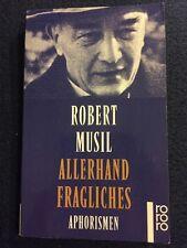 Robert Musil Allerhand Fragliches 1978 1996 Rare Book Mini