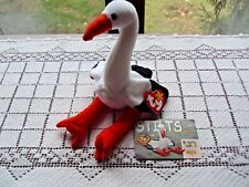 Ty Beanie Stilts The Stork and Official Club Card Spelling Error on Swing Tag