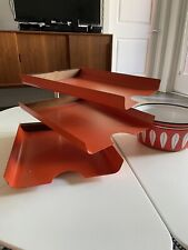 Vintage Peter Pepper Products Desk Organizer MCM 1960s Art File Tray Mid Century
