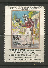Switzerland TOBLER Chocolate advertising stamp-Popular Fictional Characters #473