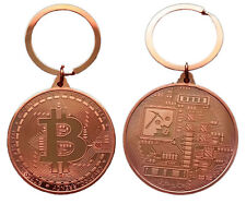 Collectors Coin Bitcoin Key Ring Keychain Gifts RoseGold