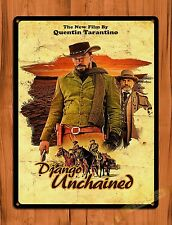 TIN-UPS Tin Sign Django Unchained Quentin Tarantino Vintage Movie Art Poster
