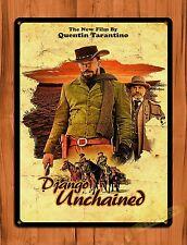 TIN SIGN Django Unchained Quentin Tarantino Jamie Foxx Movie Art Poster