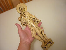 """Vintage 1950-1960's Antique 11"""" Oriental Figurine Toy - Early Plastic Molded"""
