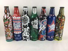 Vtg Lot Of Mountain Dew Green Label Art Pushead 7 Bottles NEW soda art 2008