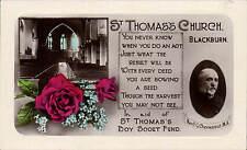 Blackburn. St Thomas Church & Rev. F.G.Chevassut. In Aid of Boy Scout Fund.