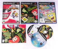 3 Spitzen KINDER Spiele für Playstation 2 z.B. SPONGEBOB; KIM POSSIBLE; POWER RA