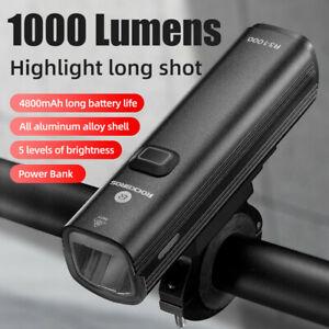 RockBros Bike Light Aluminium Alloy 1000 Lumens 5 Modes High Quality LED Lamp