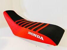 HONDA TRX 400EX ULTRA GRIP SEAT COVER 1999  2007 RED SIDES BLACK TOP LOGO HONDA