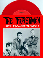 "TRASHMEN Lucille/ Green Onions 7"" 45 RARE RED COLORED SURF ROCK VINYL"