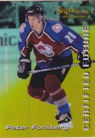 95-96 Select Certified Peter Forsberg Certified Future