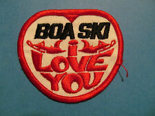 Rare Vintage 1970's Snowmobile Sled Hat Hipster Jacket Patch BOA Ski I Love You